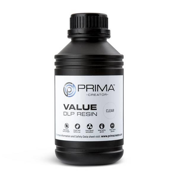 STANDARD UV DLP Resin CLEAR 500ml - PrimaCreator