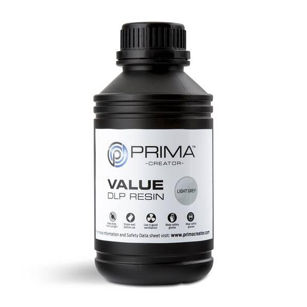 STANDARD UV DLP Resin LIGHT GREY 500ml - PrimaCreator