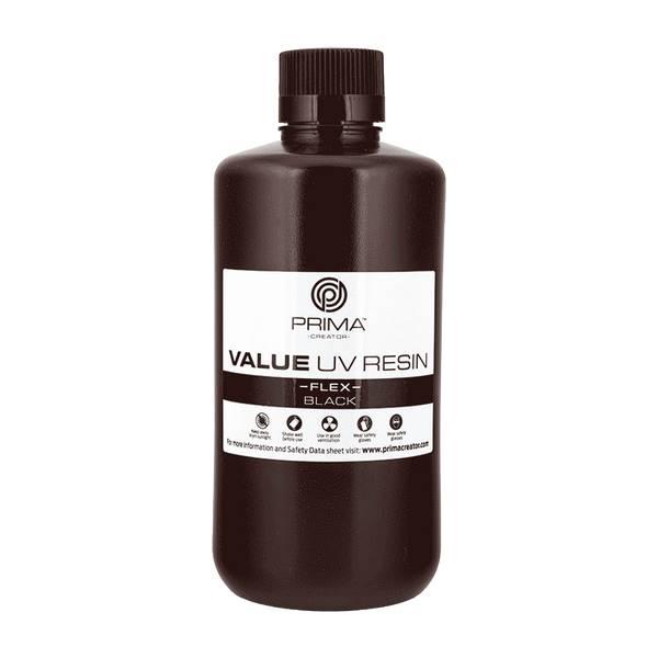 Flex UV DLP Resin BLACK 1000ml - PrimaCreator