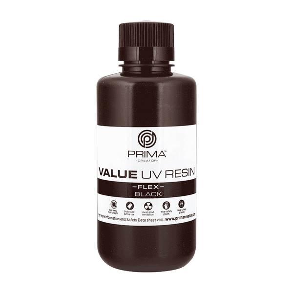 Flex UV DLP Resin BLACK 500ml - PrimaCreator