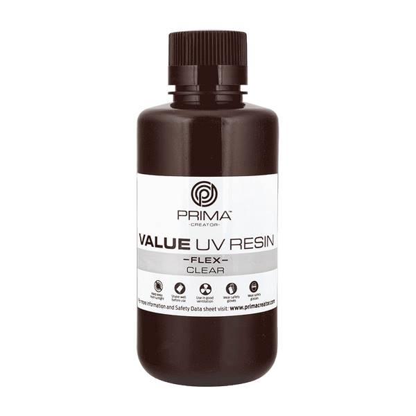 Flex UV DLP Resin CLEAR 500ml - PrimaCreator