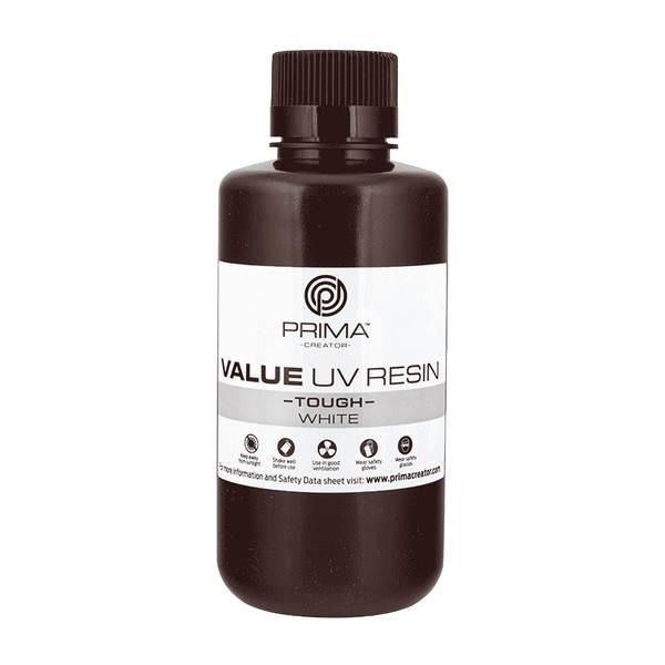 TOUGH UV DLP Resin WHITE 500ml - PrimaCreator