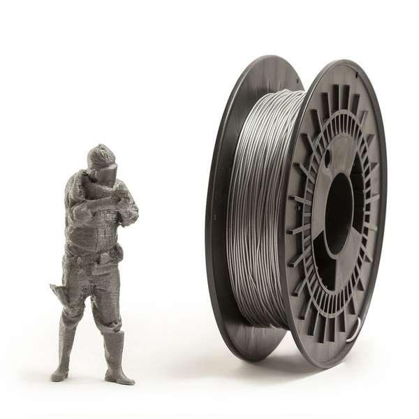 EUMAKERS FLEX filament Silver 1.75mm 500g