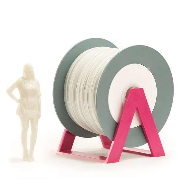 EUMAKERS PLA filament Glitter Silver | White 1.75mm 1000g