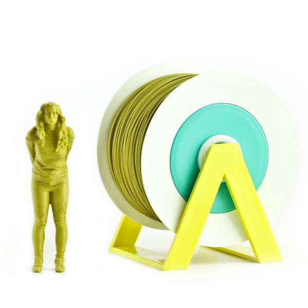 EUMAKERS PLA filament Olive Yellow 1.75mm 1000g