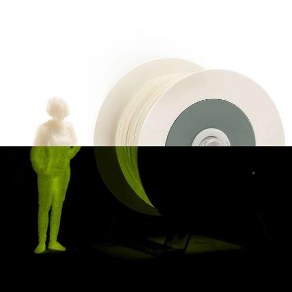 EUMAKERS PLA filament Photoluminescent Ivory White | Yellow 1.75mm 1000g