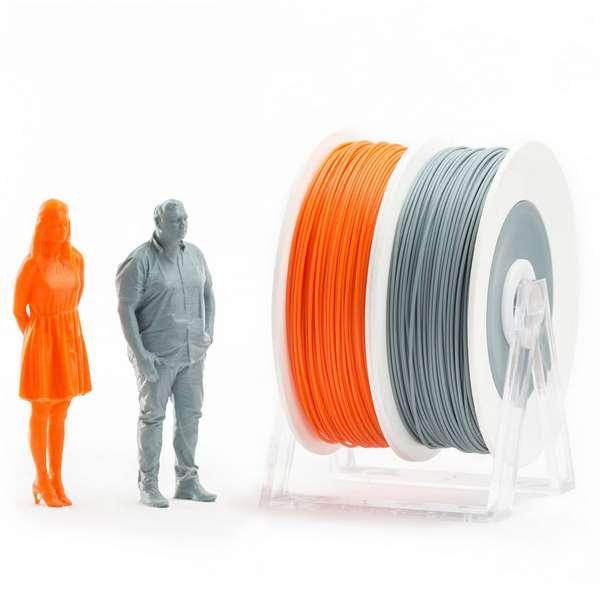 EUMAKERS PLA filament Orange Grey 1.75mm 2 x 500g