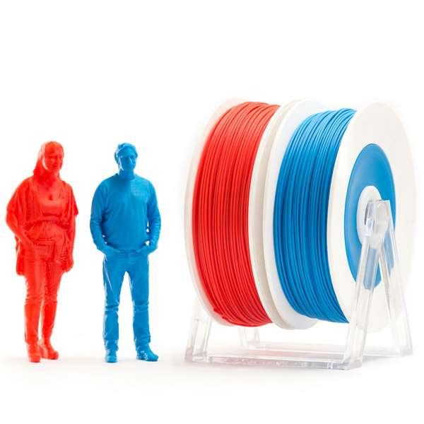EUMAKERS PLA filament Red Blue 1.75mm 2 x 500g