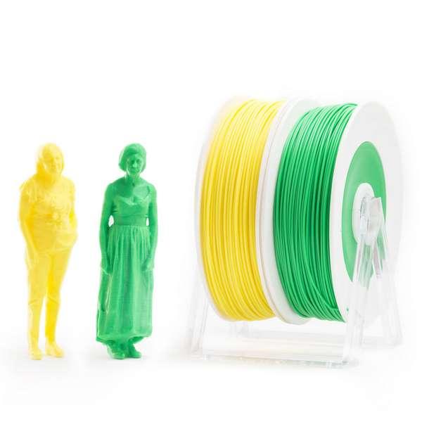 EUMAKERS PLA filament Yellow Green 1.75mm 2 x 500g