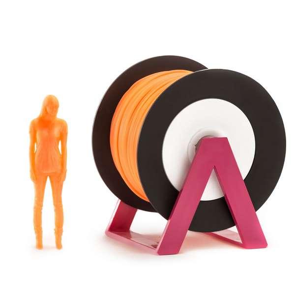 EUMAKERS PLA filament Fluorescent Orange 2.85mm 1000g