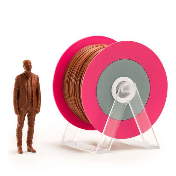 EUMAKERS PLA filament Glossy Brick Brown 2.85mm 1000g