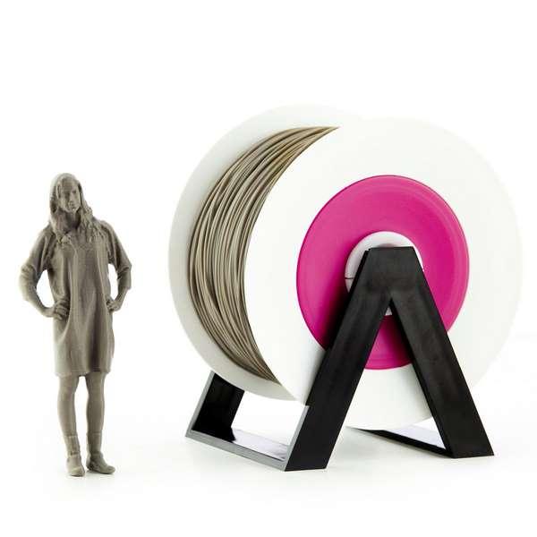 EUMAKERS PLA filament Smoked Grey 2.85mm 1000g