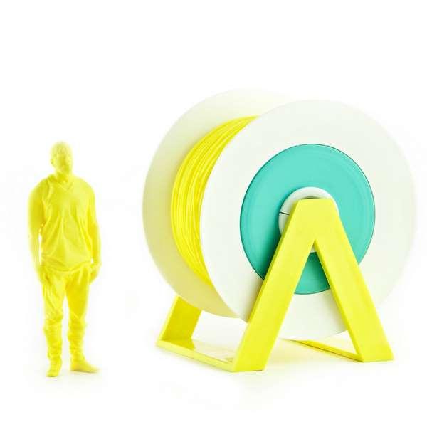 EUMAKERS PLA filament Vivid Yellow 2.85mm 1000g