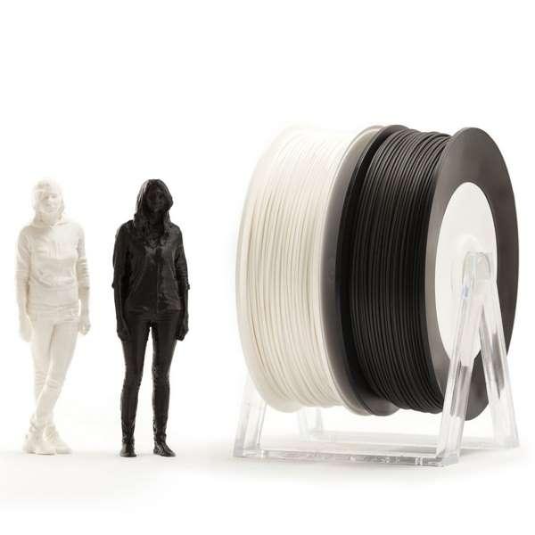 EUMAKERS PLA filament Black White 2.85mm 2 x 500g