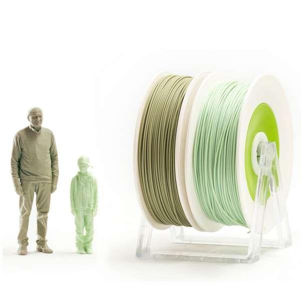 EUMAKERS PLA filament EUBIO/2Life PASTEL GREEN | MILITARY GREEN 1.75mm 2 x 500g