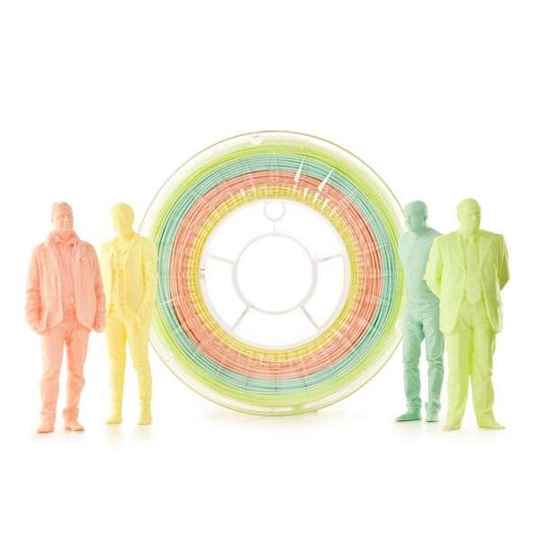 EUMAKERS PLA filament PASTEL MULTICOLOR 1.75mm 4 x 250g