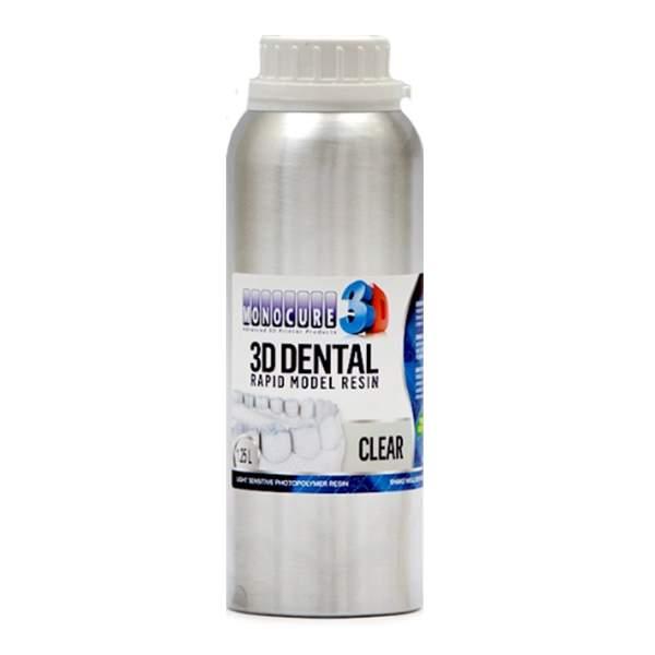 RAPID MODEL DENTAL Resin CLEAR 1250ml - Monocure3D