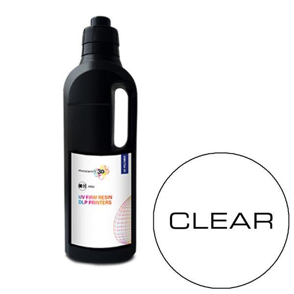 UV DLP Firm Resin CLEAR 1000ml - Photocentric3D