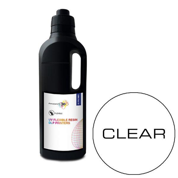 UV DLP Flexibile Resin CLEAR 1000ml - Photocentric3D