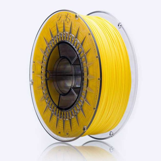 Smooth ABS filament Yellow 1.75mm 850g