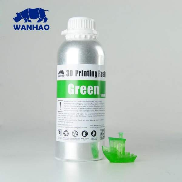 STANDARD UV Resin GREEN 1000ml - WANHAO