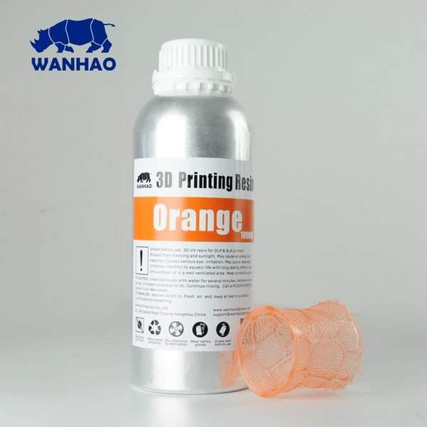 STANDARD UV Resin ORANGE 1000ml - WANHAO