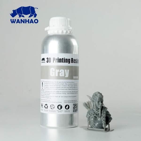 WATER WASHABLE UV Resin GREY 1000ml - WANHAO