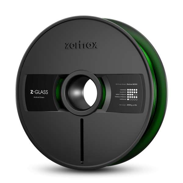 Zortrax Z-GLASS filament Android Green 2000g
