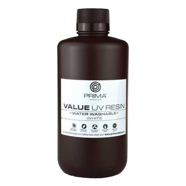 Water Washable UV DLP Resin WHITE 1000ml - PrimaCreator