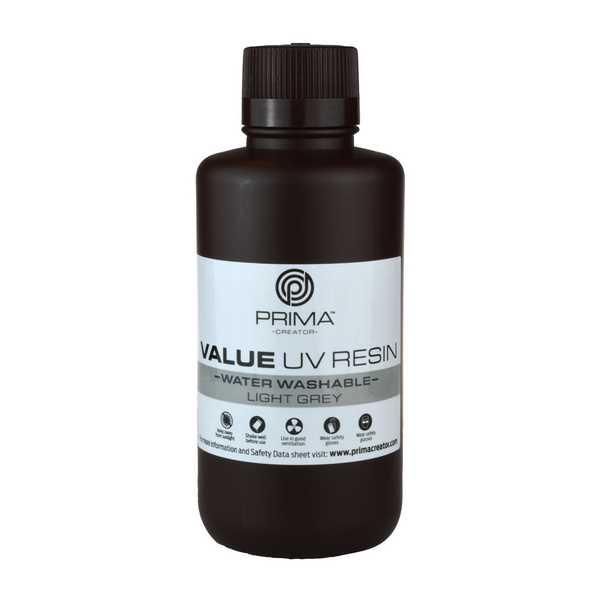 Water Washable UV DLP Resin LIGHT GREY 500ml - PrimaCreator