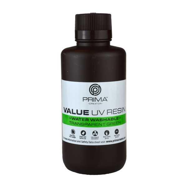 Water Washable UV DLP Resin TRANSPARENT GREEN 500ml - PrimaCreator