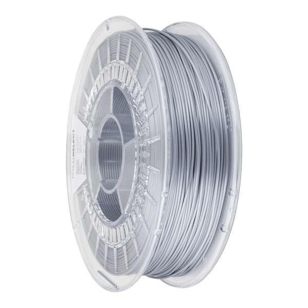 Glossy PLA filament Liquid Silver 1.75mm 750g - PrimaSelect
