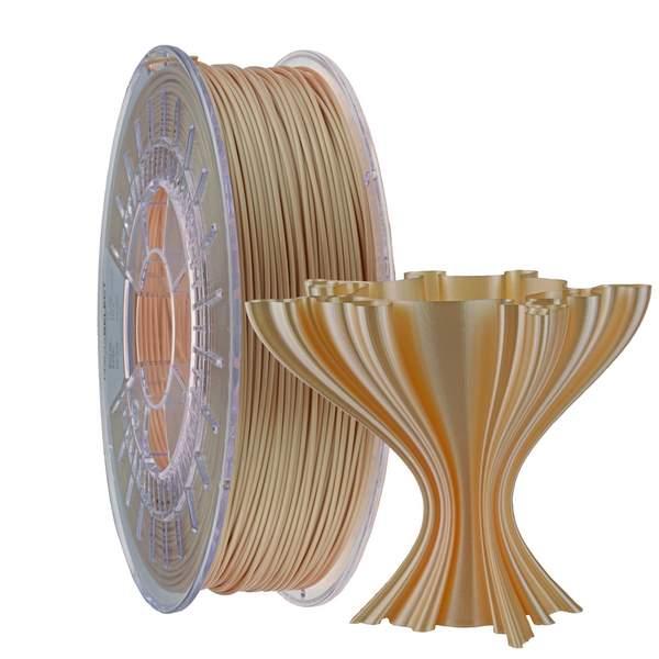 Satin PLA filament Champagne 1.75mm 750g
