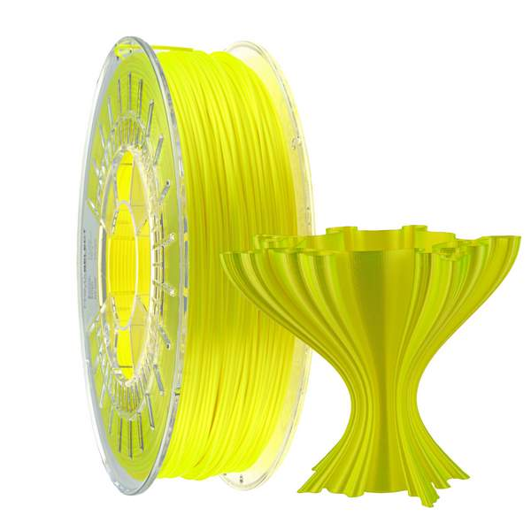 Satin PLA filament Yellow 1.75mm 750g