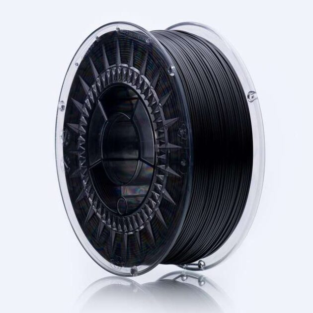 Smooth ABS Plus filament Black Volcano 1.75mm 850g