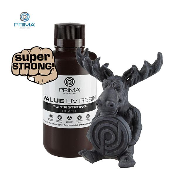 SUPER STRONG UV DLP Resin BLACK 500ml - PrimaCreator