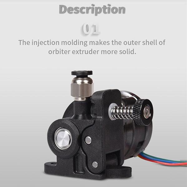 BIQU Orbiter V1.5 Extruder Dual Driver Gear Extrusion